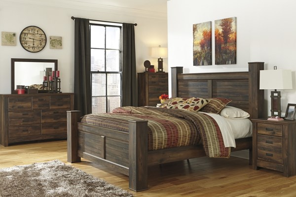 Ashley Furniture Quinden 2pc Bedroom Set With Queen Poster Bed