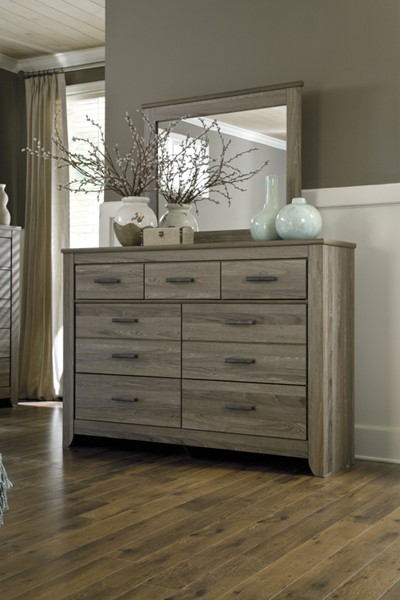 Zelen Casual Warm Gray Wood Multiple Drawer Dresser B248-31