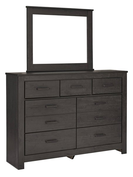 Ashley Furniture Brinxton Black Dresser and Mirror B249-DRMR