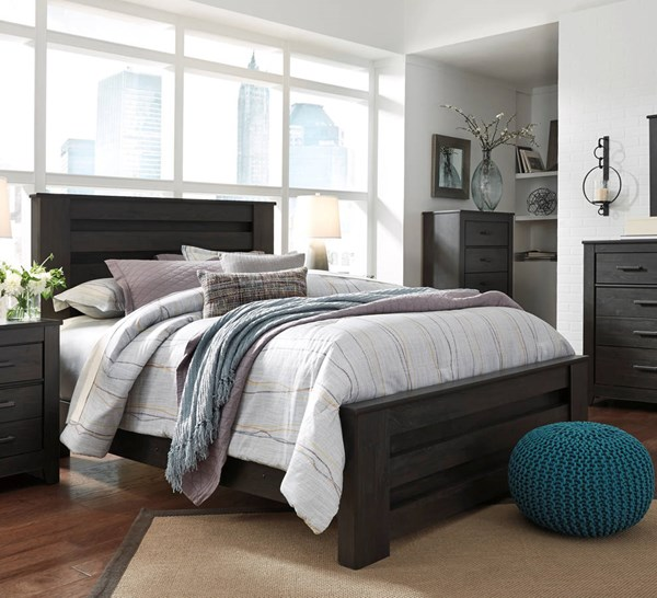 Brinxton Casual Black Wood King Poster Bed B249-KPBED
