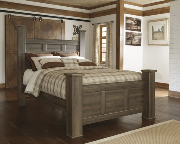 Juararo Dark Brown Wood Poster / Panel Beds B251-BEDS