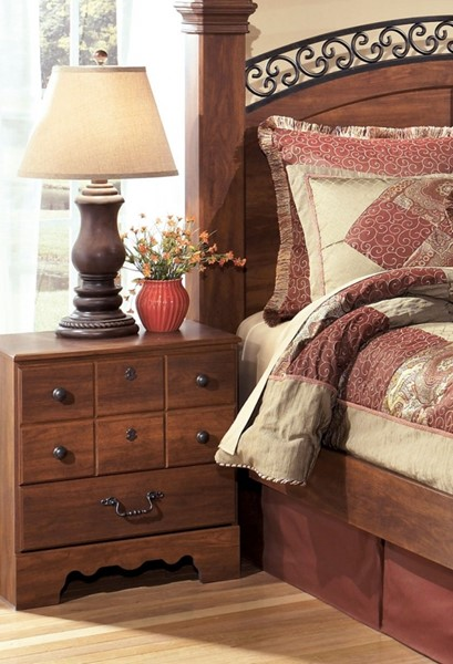 Timberline Traditional Warm Brown Wood Night Stand B258-92