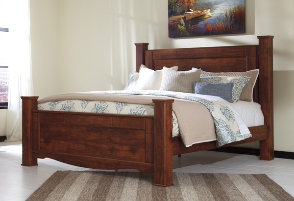 Brittberg Contemporary Reddish Brown Wood King Poster Bed B265-KPOST-BED