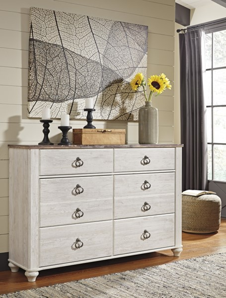 Willowton Casual Two Tone Wood Multiple Drawer Dresser B267-31