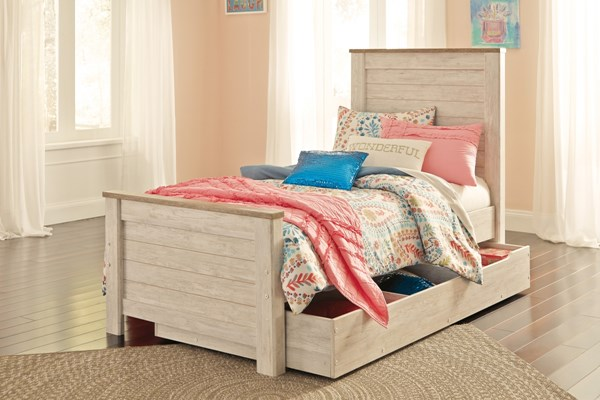 Ashley Furniture Willowton Twin Panel Bed With Trundle