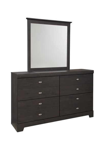 Shylyn Contemporary Charcoal Bedroom Mirror B272-36