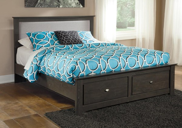Shylyn Contemporary Charcoal Platform Beds B272-BEDS-VAR