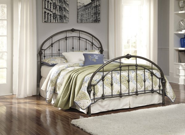 Ashley Furniture Nashburg Bronze King Headboard Footboard and Rails B280-182