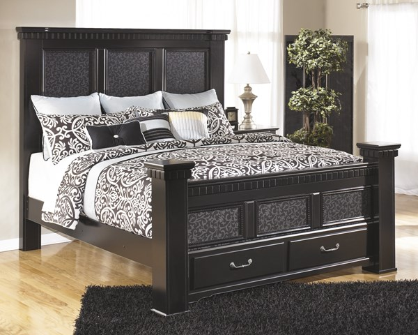 Cavallino Traditional Black Wood Storage Beds B291-KBS-VAR