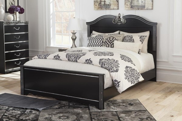 Navoni Traditional Classics Black Queen Panel Footboard B301-54