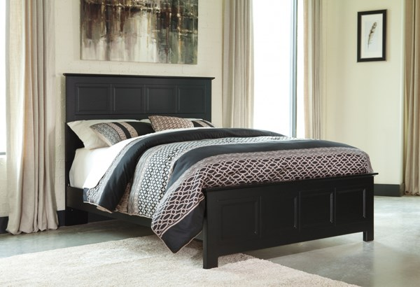 Prattfield Casual Black Wood Queen Panel Bed B311-QBED