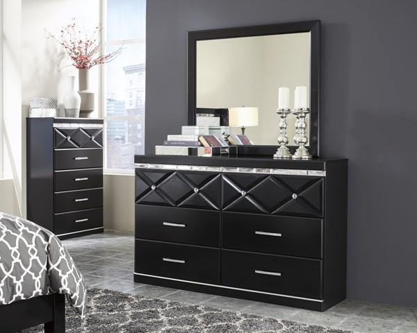 Fancee Contemporary Black Multiple Drawers Dresser B348-31