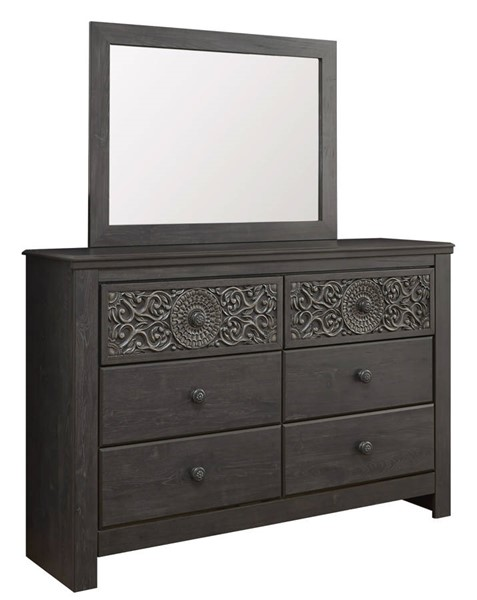 Ashley Furniture Paxberry Black Dresser And Mirror B381-DRMR