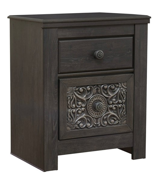 Ashley Furniture Paxberry Black Two Drawer Night Stand B381-92