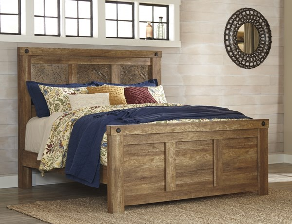 Ladimier Casual Medium Brown Wood Panel Beds B399-PBED-VAR