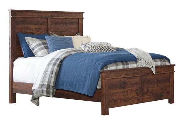Hammerstead Casual Brown Wood Panel Beds B407-PNLBED-VAR