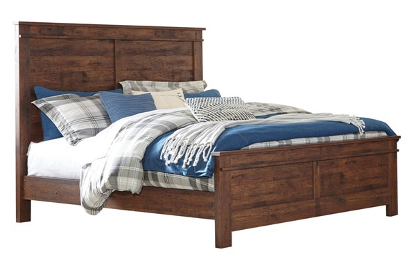 Hammerstead Casual Brown Wood King Panel Bed B407-KPNLBED