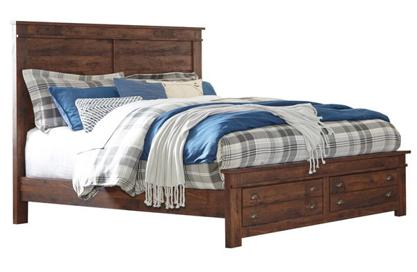 Hammerstead Casual Brown Wood King Storage Bed B407-KSBED