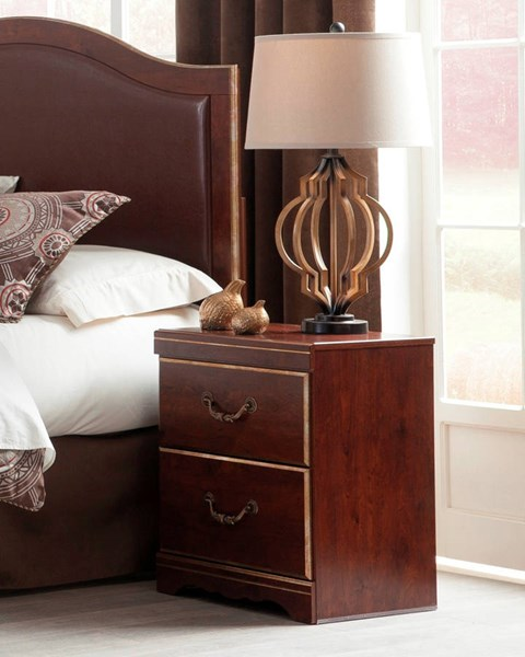 Chanlyn Traditional Reddish Brown Wood Two Drawer Night Stand B409-92