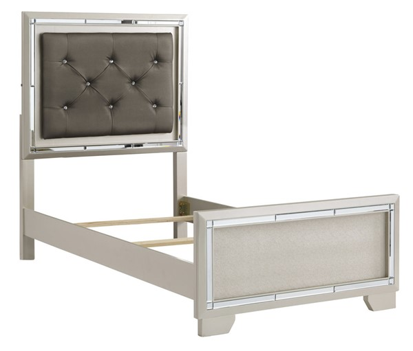 Ashley Furniture Lonnix Silver Panel Upholstered Beds B410-PUBEDS