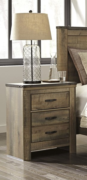 Trinell Vintage Casual Brown Two Drawer Night Stand B446-92