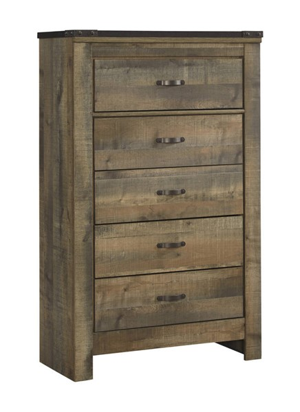 Ashley Furniture Trinell Brown Five Drawer Chest
