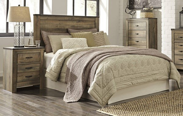 Ashley Furniture Trinell Brown 2pc Bedroom Set With King Headboard The Classy Home