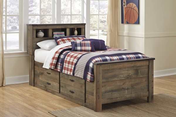 Ashley Furniture Trinell Bookcase Bed with Underbed Storage B446-BCB-US-VAR