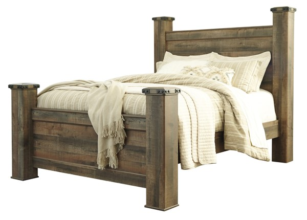 Ashley Furniture Trinell Brown Queen Poster Bed The Classy Home