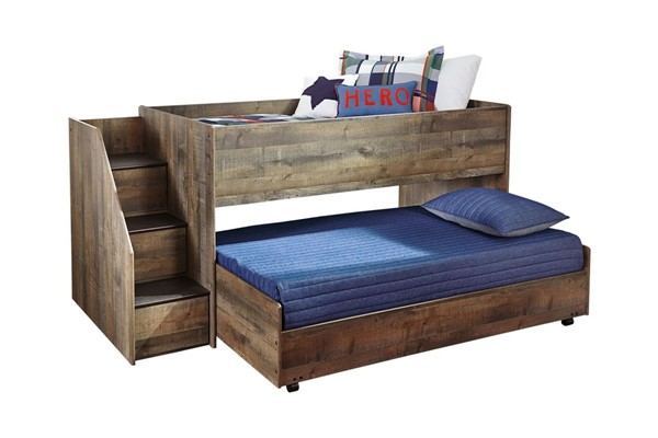 Ashley Furniture Trinell Brown Twin Caster Loft Bed B446-CSTRLBED