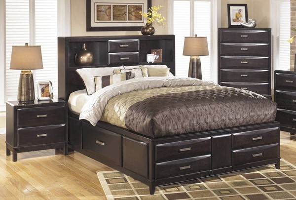 Ashley furniture kira 2pc bedroom set with queen storage - Discontinued ashley bedroom furniture ...