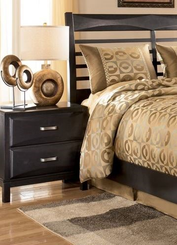 Kira Contemporary Black Solid Wood Night Stand B473-92