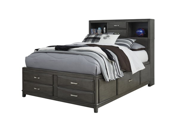 Ashley Furniture Caitbrook Gray Full Storage Bed B476-FSBED