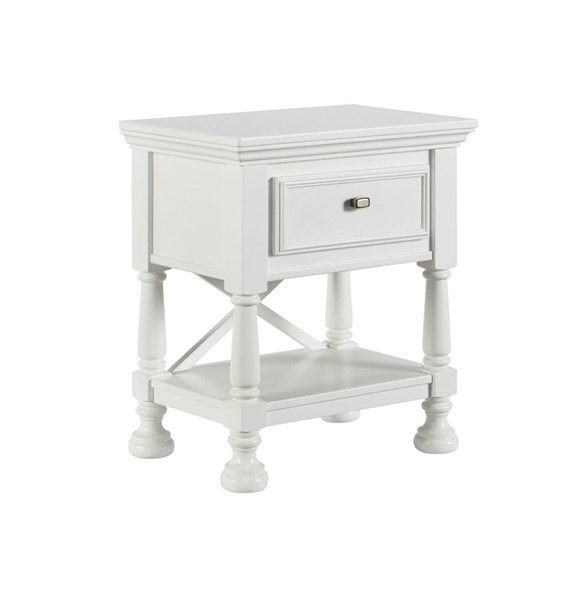 Kaslyn White Wood One Drawer Night Stand B502-91