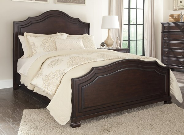 Brulind Casual Brown Wood King/Cal King Panel Footboard B554-56