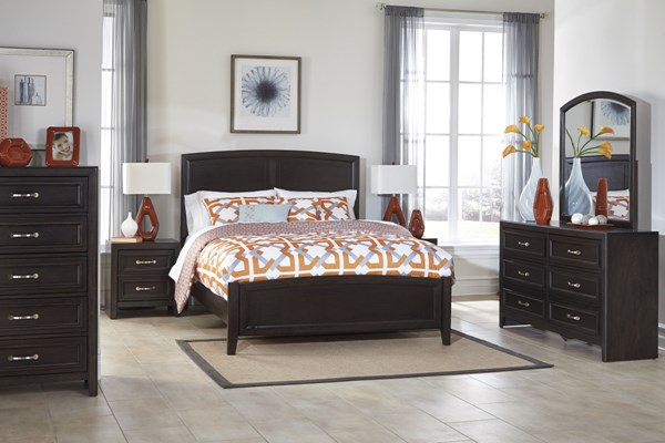 Braymore Contemporary Brown Wood Master Bedroom Set B562-BR