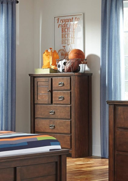 Ladiville Vintage Casual Rustic Brown Wood Chest B567-45