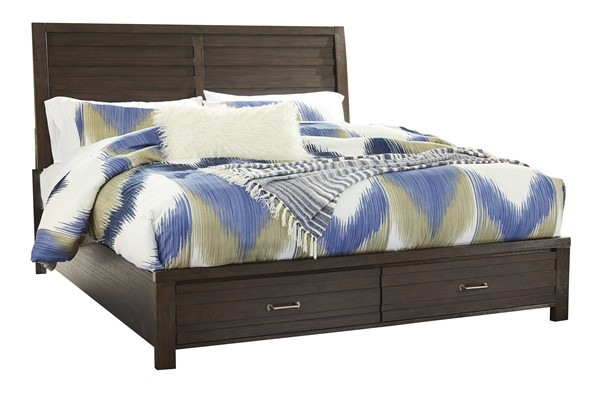Ashley Furniture Darbry Brown Storage Beds B574-BED-VAR