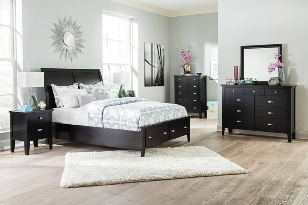 Braflin Contemporary Black 2pc Bedroom Sets B591-BR-S