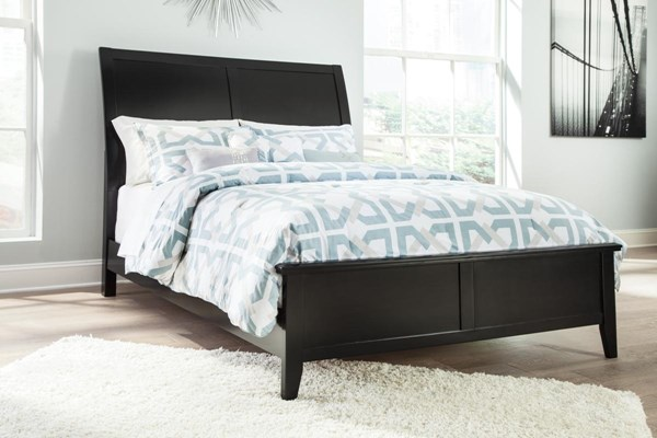 Braflin Contemporary Black King Footboard and Rails B591-56