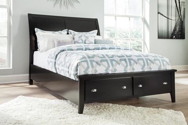 Braflin Contemporary Black Storage Panel Beds B591-KSRFTBD-VAR