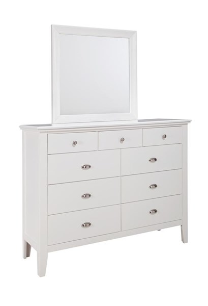 Langlor Contemporary White Bedroom Mirror B592-36