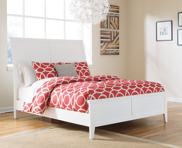 Langlor Contemporary White Queen Footboard and Rails B592-54