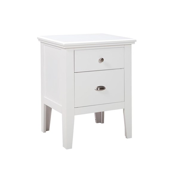 Langlor Contemporary White Two Drawer Night Stand B592-92