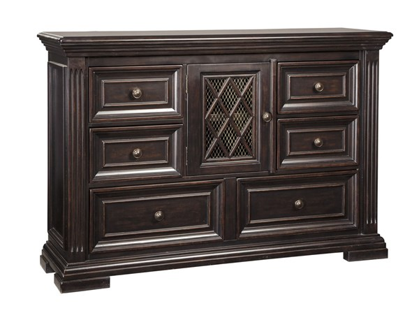 Willenburg Casual Dark Brown Solid Wood Dresser B643-31