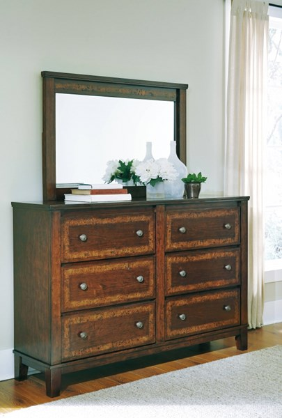 Dawlyn Traditional Classics Burnished Brown Dresser And Mirror B645-DRMR