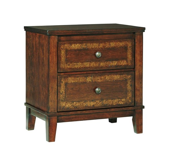 Dawlyn Traditional Classics Burnished Brown Two Drawer Night Stand B645-92
