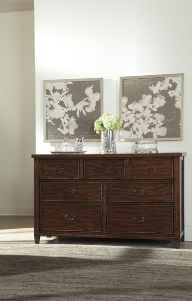 Chaddinfield Casual Brown Wood Multiple Drawers Dresser B648-31