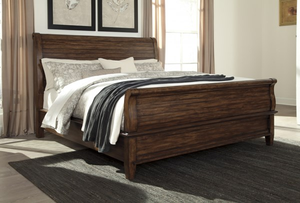 Chaddinfield Casual Brown Wood King Sleigh Bed B648-KSL-BED