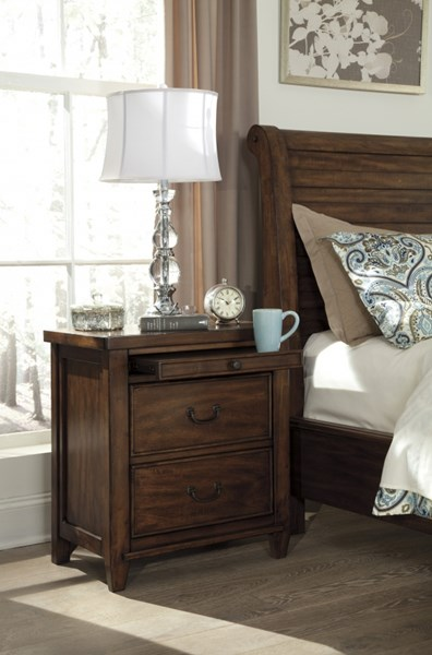 Chaddinfield Casual Brown Wood Two Drawer Night Stand B648-92